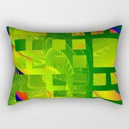 Great Green Frac 5 Rectangular Pillow