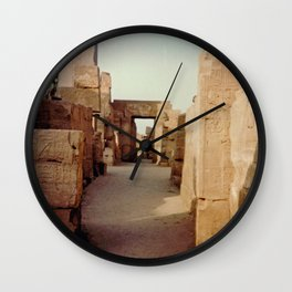 Ruins at the Karnak Temple Complex in Egypt Wall Clock