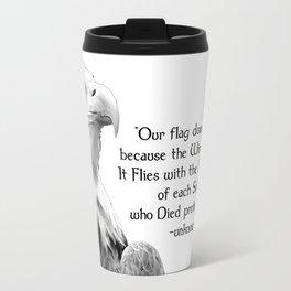 Eagle with Patriotic Quote Travel Mug
