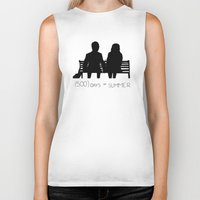 500 days of summer Biker Tanks featuring (500) Days of Summer by ☿ cactei ☿