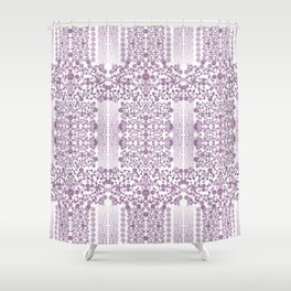 Millefiori flowers design-hand painted-3D effect-romantic and floral Shower Curtain