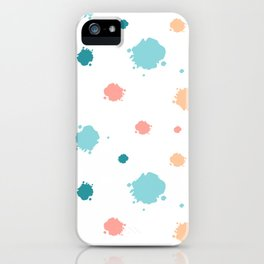 cute pattern background illustration with ink blots iPhone Case