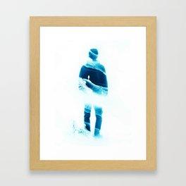 Love Isolation in Teal Framed Art Print
