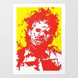 August 18, 1973: Bloodstain Leatherface (color combination K) Art Print