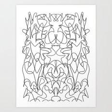 Rorschach Version 4 Art Print