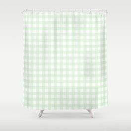 Gingham Mint Shower Curtain