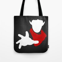 merlin Tote Bags featuring Merlin. by KitsuneDesigns