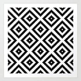 Tribal W&B Art Print