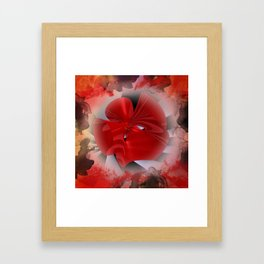 red polynomial flower -2- Framed Art Print