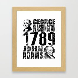 George Washington John Adams 1789 President Campaign  Framed Art Print