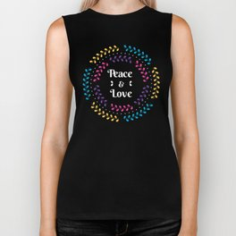 Peace And Love Holiday Invitation With Floral Biker Tank