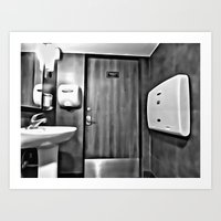 bathroom Art Prints featuring bathroom by artinn
