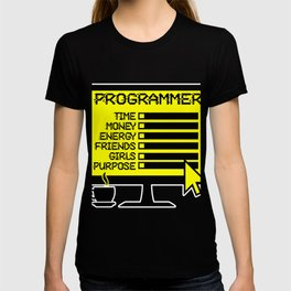 Programmer Office Hacker Developer Screen Gift T-shirt