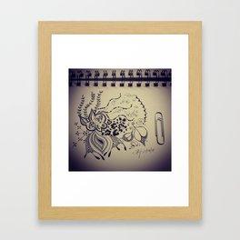 Brat Doll Art - Undersea Leopard Framed Art Print