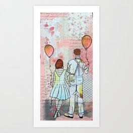 Balloons and Love Art Print