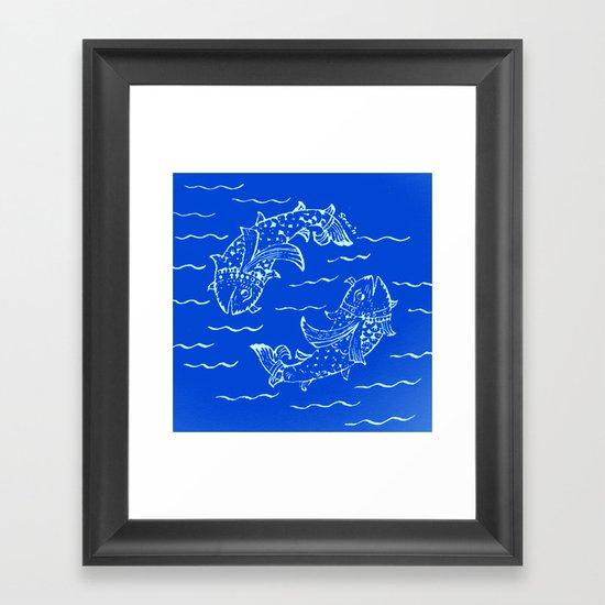 Happy fish- 1 Framed Art Print