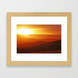 Golden morning in Africa Framed Art Print