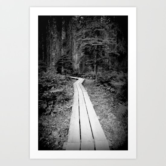 road to the forest Art Print