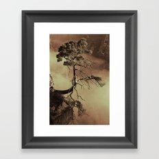 Mystic lonely tree Framed Art Print