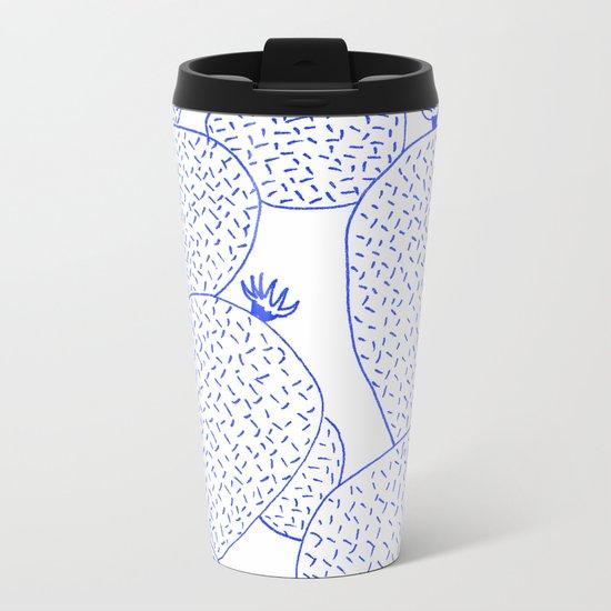 Cactus 55 blue Metal Travel Mug
