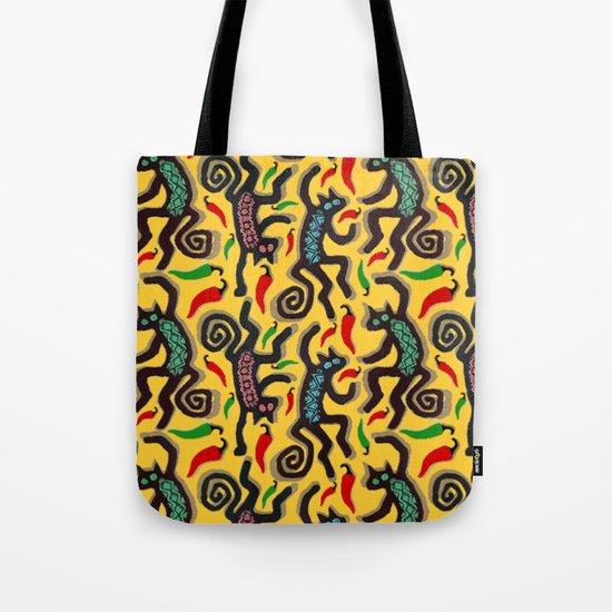 Hot Pepper DANCING CATS Tote Bag