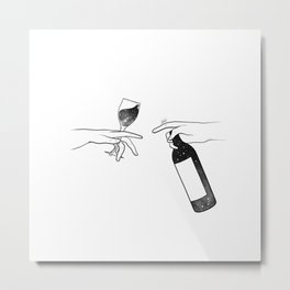 Wine connecting people. Metal Print