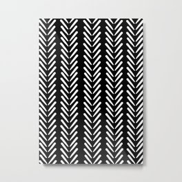 Mud Cloth Arrow Glam #2 #pattern #decor #art #society6 Metal Print