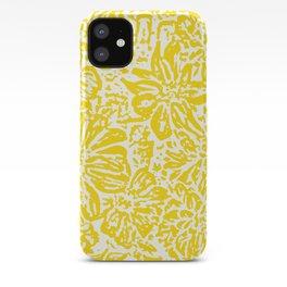 Gen Z Yellow Marigold Lino Cut iPhone Case