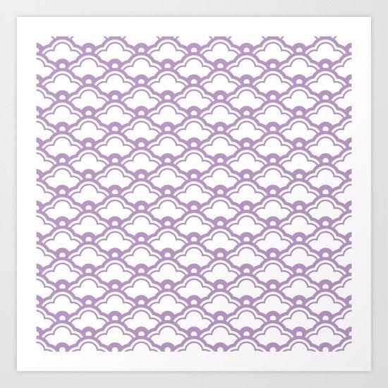 matsukata in african violet Art Print