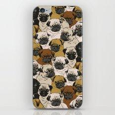 Social Pugs iPhone Skin
