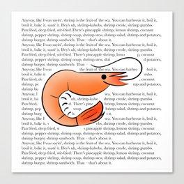 Bubba Gump Shrimp Canvas Print