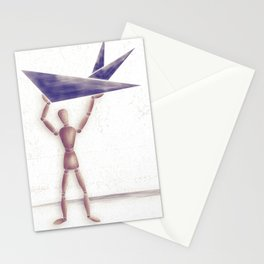 Man With Triangles  Stationery Cards
