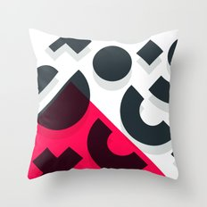 Minimal Abstract Art Pattern Geometric Throw Pillow