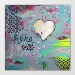 {here} Canvas Print