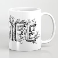 flower of life Mugs featuring LIFE by bonathos