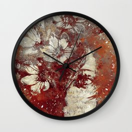 My Great Devastator II: Burnt (minimal floral graffiti portrait) Wall Clock