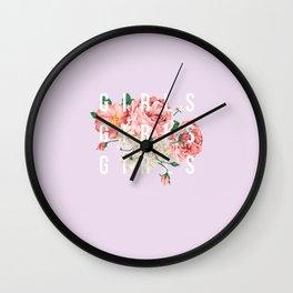 girls flowers Wall Clock