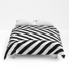 Black and White Op Art Design Comforters