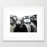 acdc Framed Art Prints featuring ACDC by MELANIE GERVAIS ART