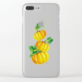 Pumpkins Deco Thanksgiving Minimalist Abstract Clear iPhone Case
