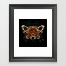 Red Panda Face Framed Art Print