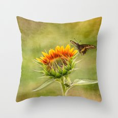 Yang Sunflower Throw Pillow