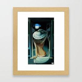 Moon Tanning Framed Art Print