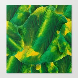 Watercolor green-yellow monotype Canvas Print