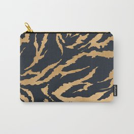 Tiger Fur Pattern (Navy & Gold) Carry-All Pouch