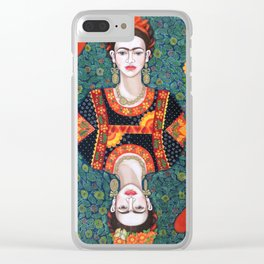 Frida, queen of Hearts Clear iPhone Case