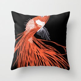 Siamese Fighting Fish Throw Pillow