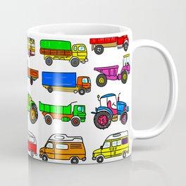 Doodle Trucks Vans and Vehicles Coffee Mug