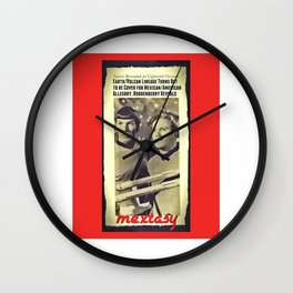 Yet Another Tale of the Mextasy Mestizaje, Sci-Fi Edition Wall Clock