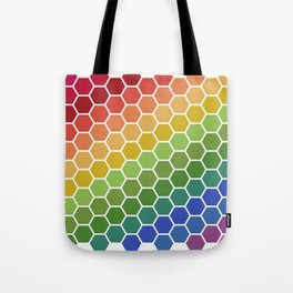 Honeycomb Rainbow Tote Bag